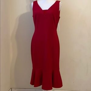 En Focus Studio Size 8 Red Maxi Dress.